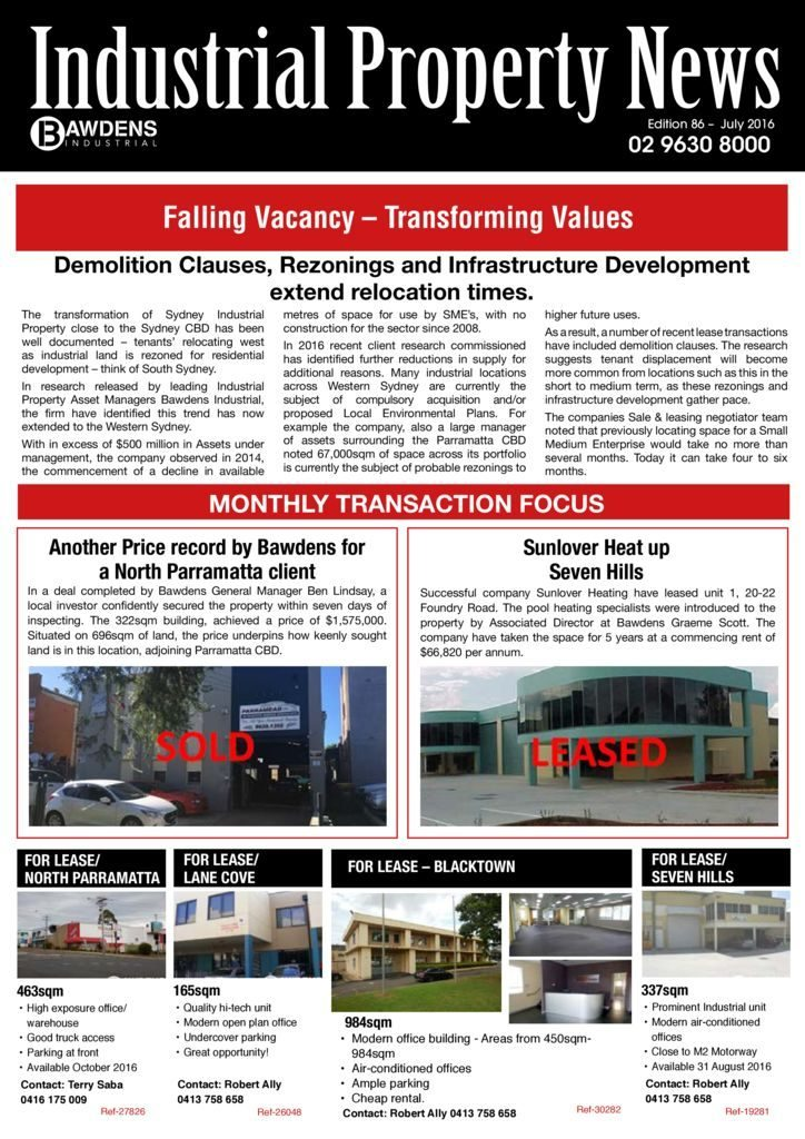 Falling Vacancy – Transforming Values