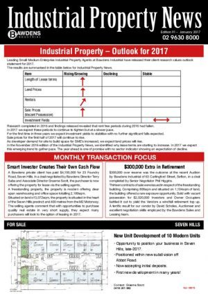 Industrial Property – Outlook for 2017