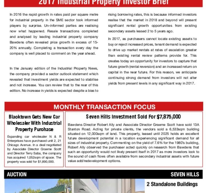 2017 Industrial Property Investor Brief